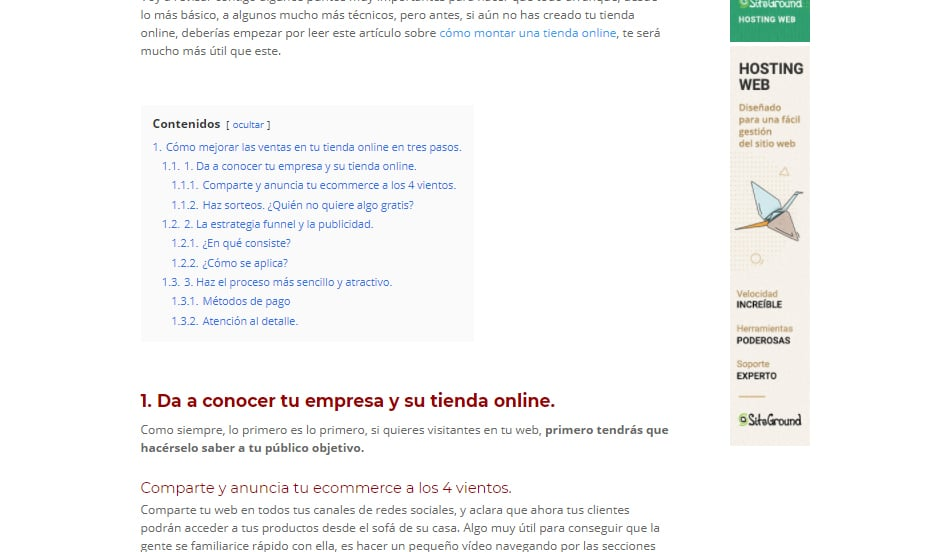Blog empresa WordPress